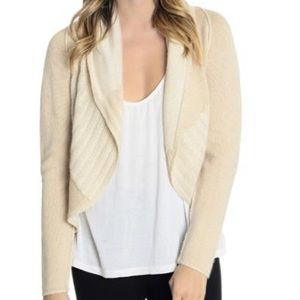 CAbi #483 Open Front Shawl Collar Cardigan Sweater